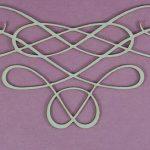 Chipboard Swirl stijl 10 Groot