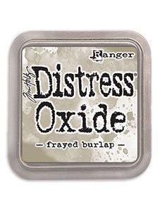 DIST OXIDE PAD 3 X 3, FRAYED BURLAP