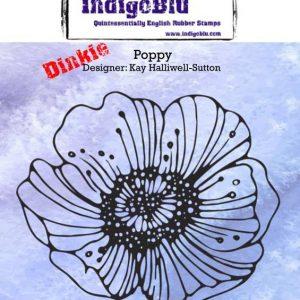 IndigoBlu Poppy A7 Rubber Stamps
