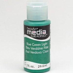 Mixed Media Acrylics Blue Green Light