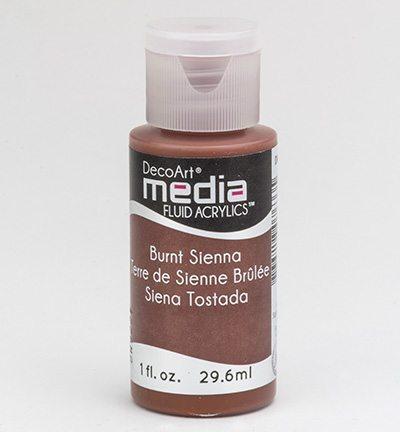 Mixed Media Acrylics Burnt Sienna