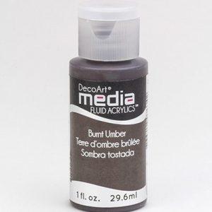 Mixed Media Acrylics Burnt Umber