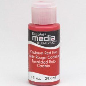 Mixed Media Acrylics Cadmium Red Hue
