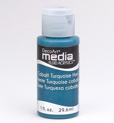 Mixed Media Acrylics Cobalt Turquoise Hue