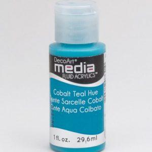 Mixed Media Acrylics Cobalt Teal Hue