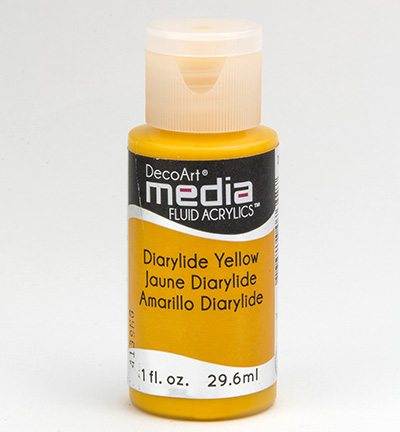 Mixed Media Acrylics Diarylide Yellow