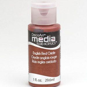 Mixed Media Acrylics English Red Oxide