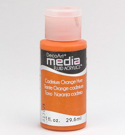 Mixed Media Acrylics Cadmium Orange Hue