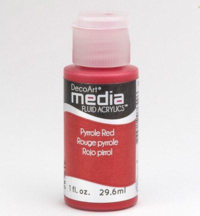Mixed Media Acrylics Pyrrole Red