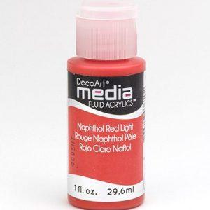Mixed Media Acrylics Napthol Red Light