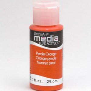 Mixed Media Acrylics Pyrrole Orange