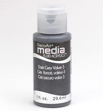 Mixed Media Acrylics Dark Grey Value 3