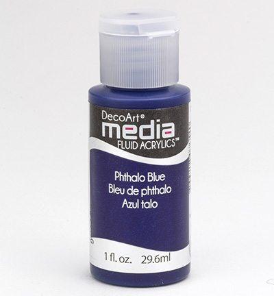 Mixed Media Acrylics Phthalo Blue