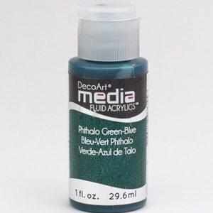 Mixed Media Acrylics Phthalo Green-Blue