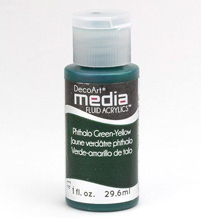 Mixed Media Acrylics Phthalo Green-Yellow