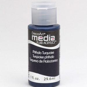 Mixed Media Acrylics Phthalo Turquoise