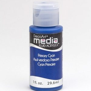 Mixed Media Acrylics Primary Cyan