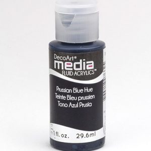 Mixed Media Acrylics Prussian Blue Hue