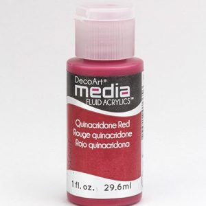 Mixed Media Acrylics Quinacridone Red
