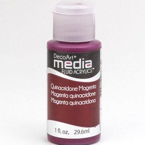 Mixed Media Acrylics Quinacronde Magenta