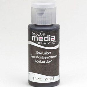 Mixed Media Acrylics Raw Umber