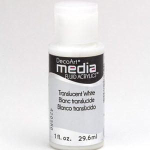 Mixed Media Acrylics Translucent White