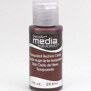 Mixed Media Acrylics Red Iron Oxide
