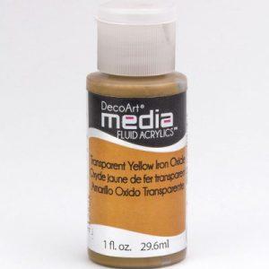 Mixed Media Acrylics Yellow Iron Oxide