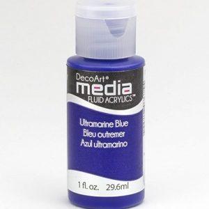 Mixed Media Acrylics Ultramarine Blue
