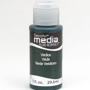 Mixed Media Acrylics Viridian Green Hue
