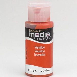 Mixed Media Acrylics Vermillion Hue