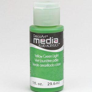 Mixed Media Acrylics Yellow Green Light