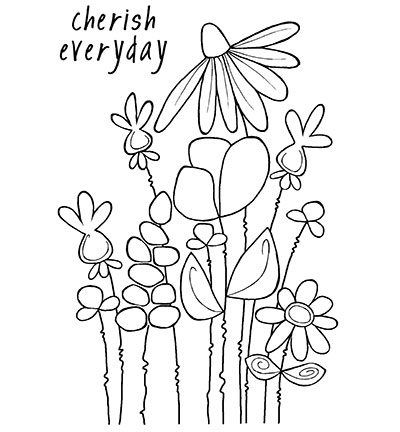 Woodware Clear Stamp Wiggly Stems