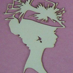 Chipboard hoofd vrouw stijl 2