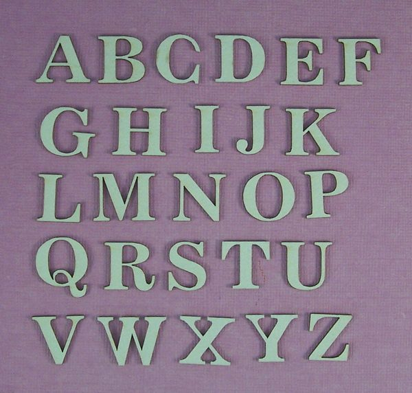 Chipboard Alfabet stijl 1 Klein