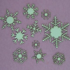 Chipboard sneeuwsterren
