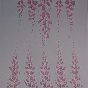 Stencil Hangende Bloemen Groot