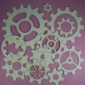Chipboard set Gears Groot XXL