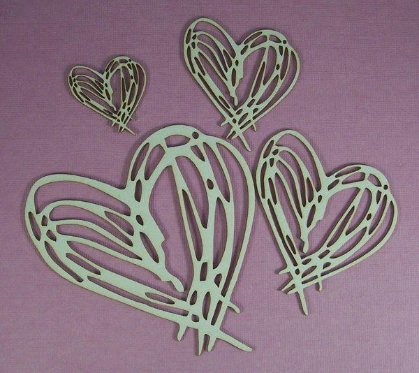 Chipboard Scribble set Heart