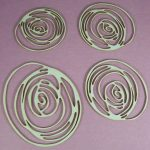 Chipboard Scribble set Rond