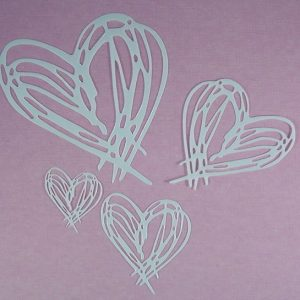 Mask Scribble set Heart