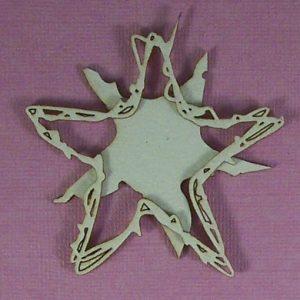 Chipboard Kerstboom Ster Grunge