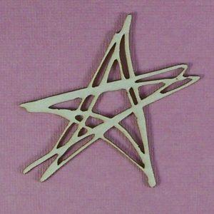 Chipboard Kerstboom Ster Grunge Stijl 1