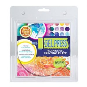Gel Press Printing Plate - cirkel 10806-6 15,2cm circle