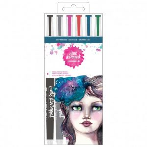 NEW Jane Davenport mermaid brush markers x6 shipwrecked