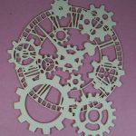 Chipboard steampunk Klok