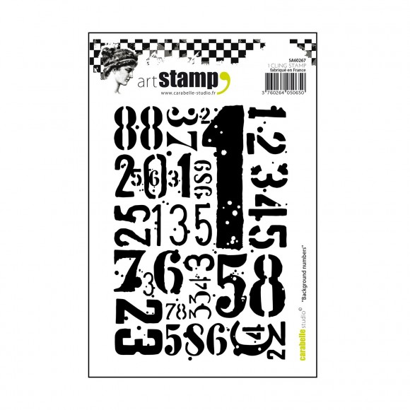 Carabelle stamp A6 background numbers