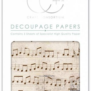Craft Consortium Old Music Score Decoupage Papers (CCDECP239)