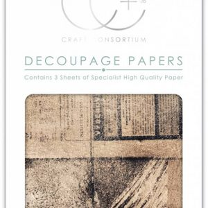 Craft Consortium Old News Decoupage Papers (CCDECP238)