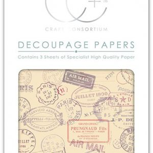 Craft Consortium Travel Stamps Decoupage Papers (CCDECP135)